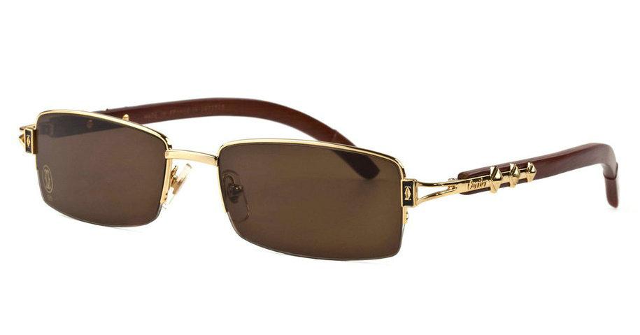 Wholesale Cheap Replica Cartier Wood Eyeglass Frames for Sale-204