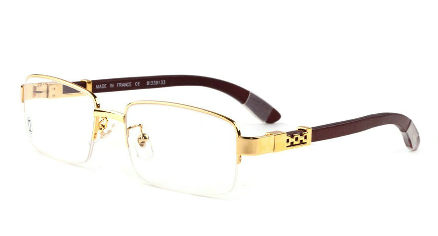 Wholesale Cheap Cartier Half Frame Semi-Rimless Eyeglass Frames for Sale-212