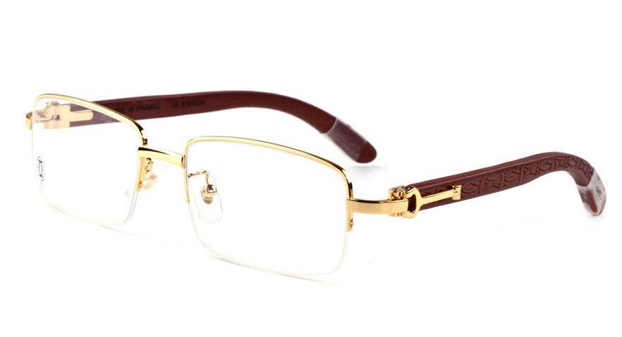 Wholesale Cheap Replica Cartier Half Rim Eyeglass Frames for Sale-214