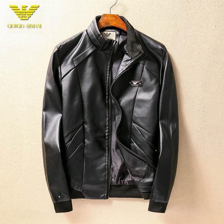 Wholesale Cheap Armani Leather Jackets-035