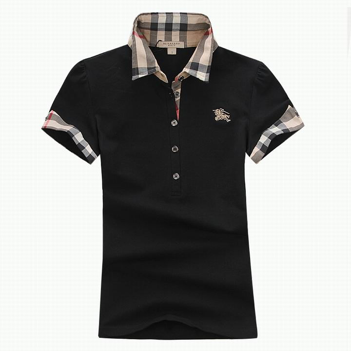 Wholesale Women's Short Sleeve Lapel T Shirt for Cheap-044