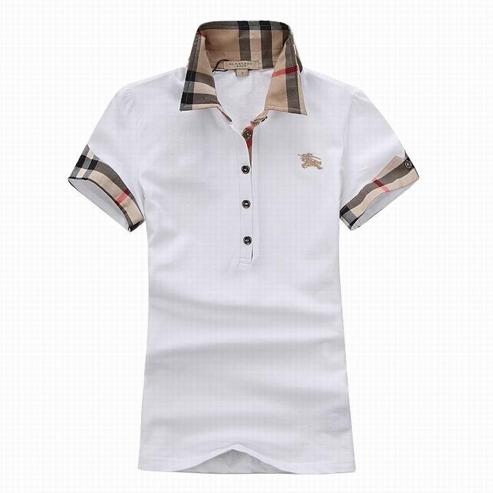 Wholesale Women's Short Sleeve Lapel T Shirt for Cheap-045