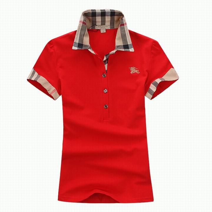 Wholesale Women's Short Sleeve Lapel T Shirt for Cheap-046