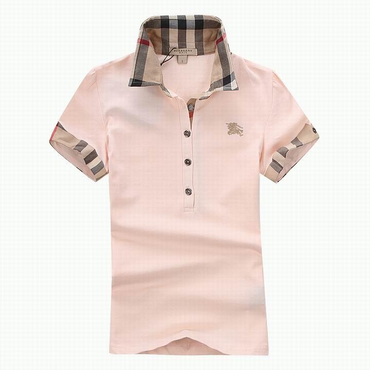 Wholesale Women's Short Sleeve Lapel T Shirt for Cheap-047