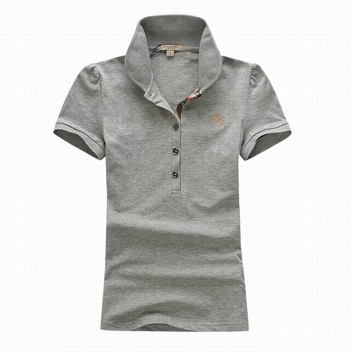 Wholesale Women's Short Sleeve Lapel T Shirt for Cheap-049