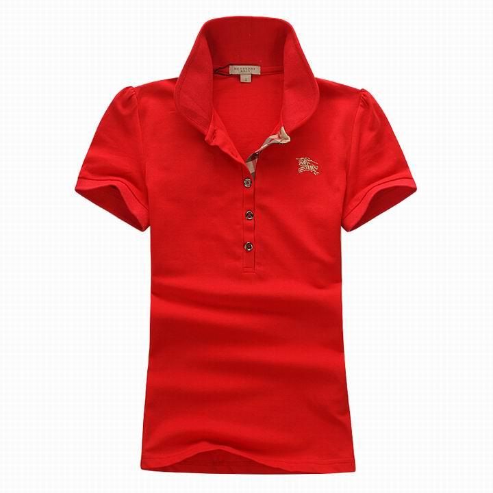 Wholesale Women's Short Sleeve Lapel T Shirt for Cheap-052