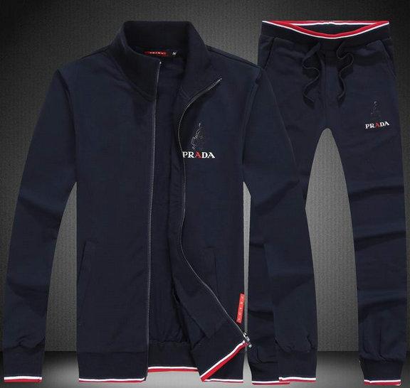 Wholesale Designer Prada Tracksuit for Cheap-045