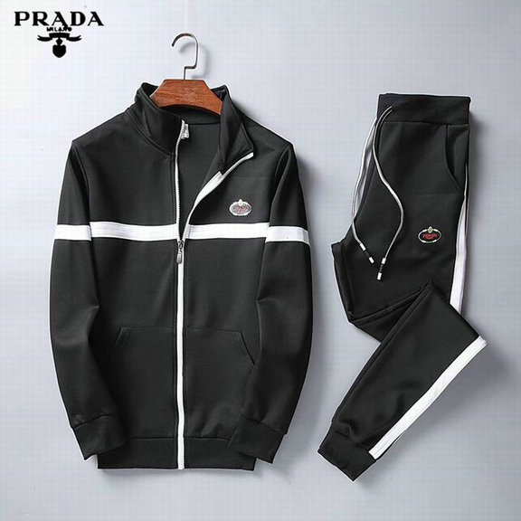 Wholesale Designer Prada Tracksuit for Cheap-051