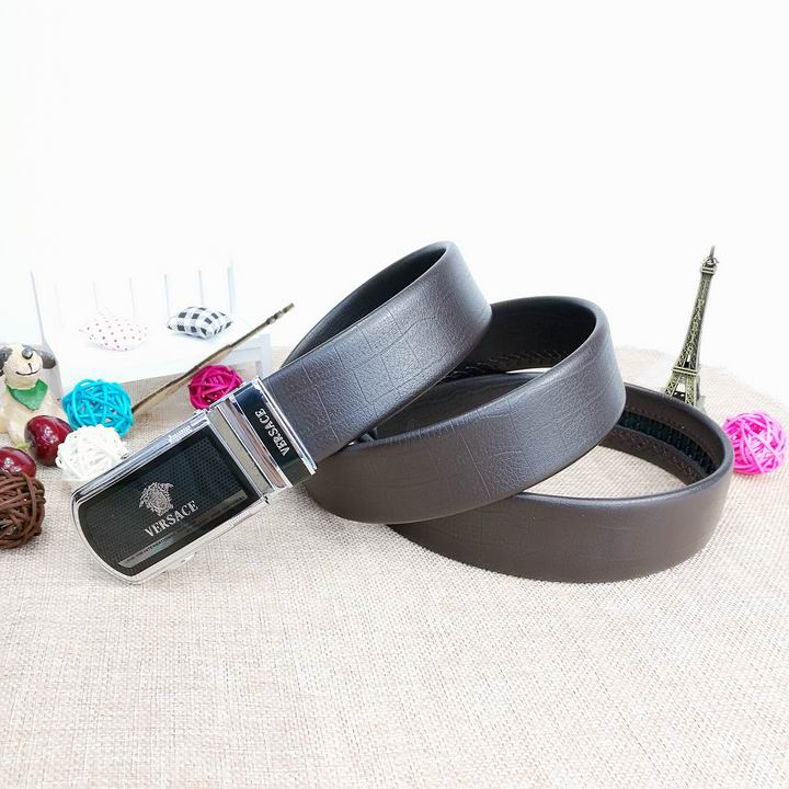 Wholesale Versace Men Automatic Leather Belt AAA-006