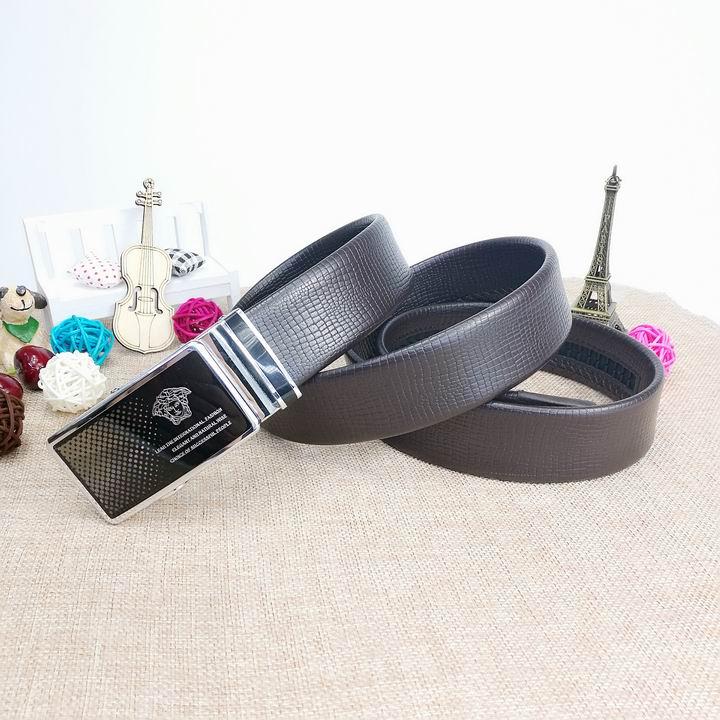 Wholesale Versace Men Automatic Leather Belt AAA-014