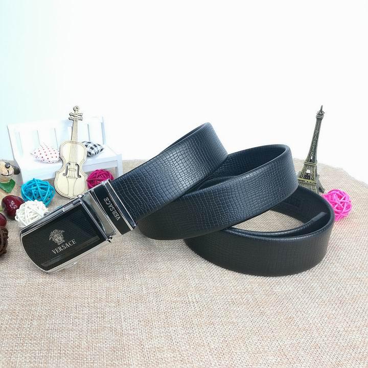 Wholesale Versace Men Automatic Leather Belt AAA-015