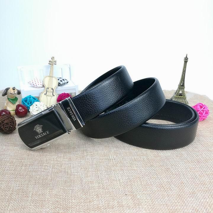 Wholesale Versace Men Automatic Leather Belt AAA-024
