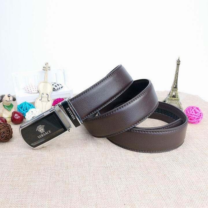 Wholesale Versace Men Automatic Leather Belt AAA-026
