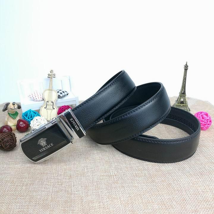 Wholesale Versace Men Automatic Leather Belt AAA-027