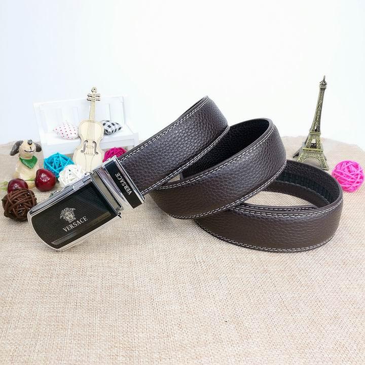 Wholesale Versace Men Automatic Leather Belt AAA-034
