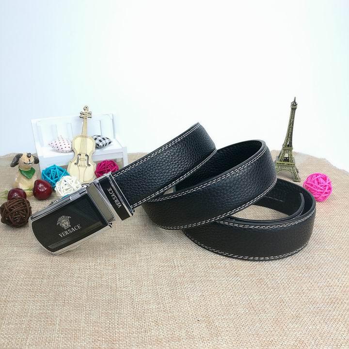Wholesale Versace Men Automatic Leather Belt AAA-036